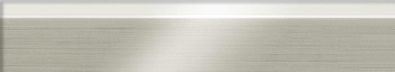 White and Brushed Aluminum Edgeband