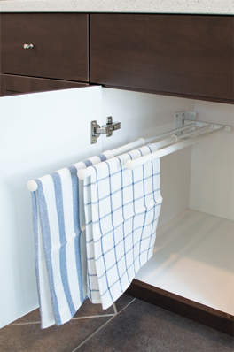 Three Prong Slide Out Towel Rack
