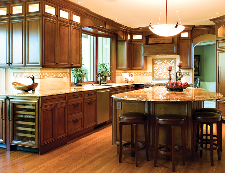 Designer Gary P. Hartz, Kitchens for Cooks/Residential Design services: Carona Door Style in Cherry with Cinnamon Stain with Black Accent Finish