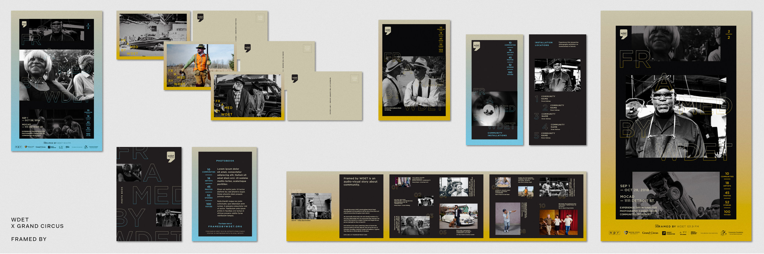 Collateral from the  Framed  exhibition material. Imagery provided by  OTHER Studio