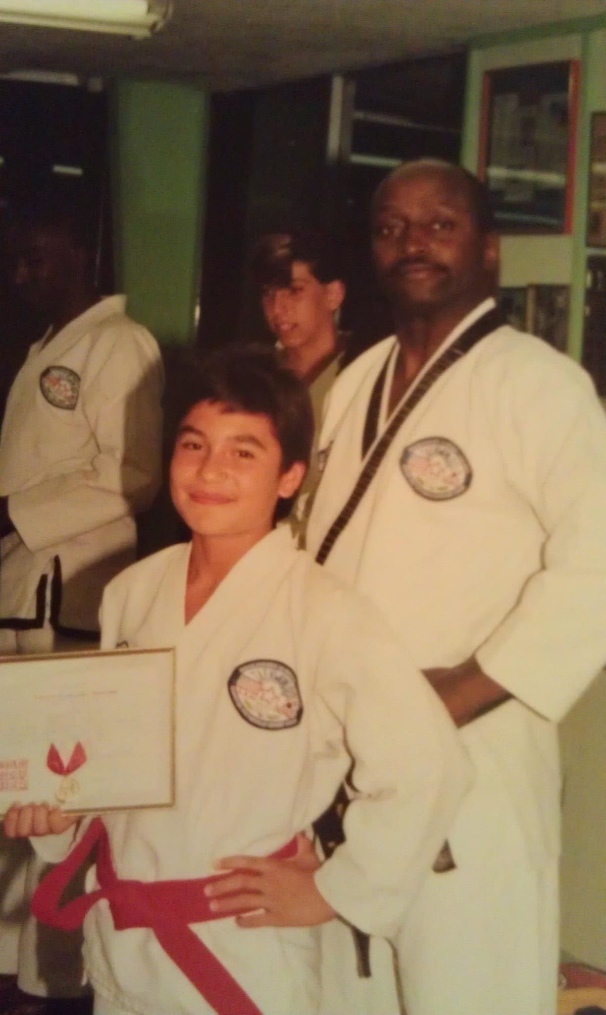 Red Belt...pictured with my instructor.