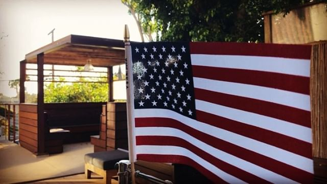 Celebrating #IndependenceDay #poolside at #thelakehouse ! Big thank you to @sunbritetv and @futureautomation for this amazing outdoor TV setup. With the lift and swivel function, we can watch in the cabana or by the fire pit! Schedule your private tour today if you'd like to see it in person! #happy4th #la #santamonica