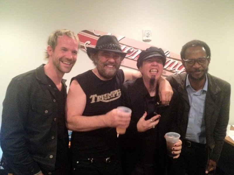 On the road with three of the Greatest. Daniel Lanois, Jim Wilson & Brian Blade.