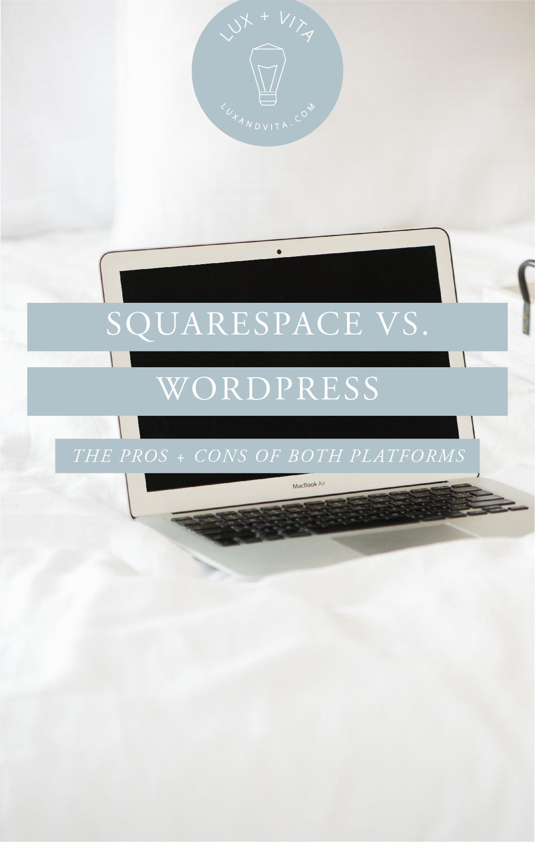 Squarespace vs Wordpress #prosofsquarespace #consofsquarespace #prosofwordpress #consofwordpress