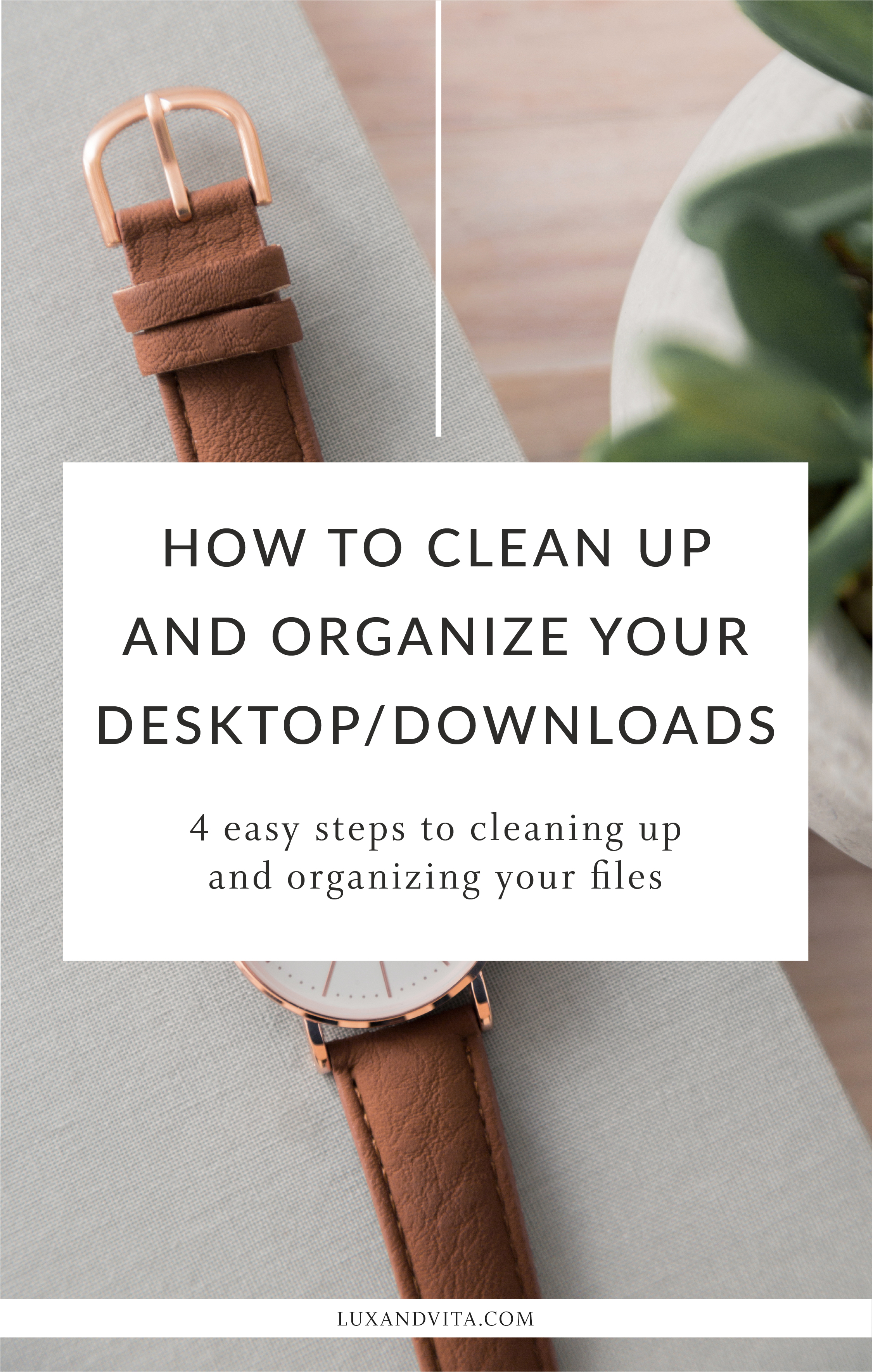 How to clean up and organize your desktop or downloads folder in 4 steps | Virtual Assistant, Project Manager, Organization Tips by Lux + Vita