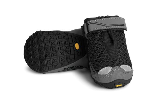 Ruffwear Canine Boots - - Designed for trail use, but provide excellent protection and proprioception feedback to pets with limb weakness or neurologic conditions.- Website has information on sizing- Can be ordered directly as single boot or set of 4