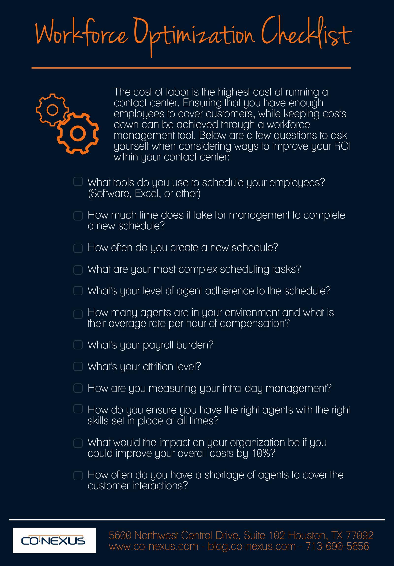 Workforce Optimization Checklist