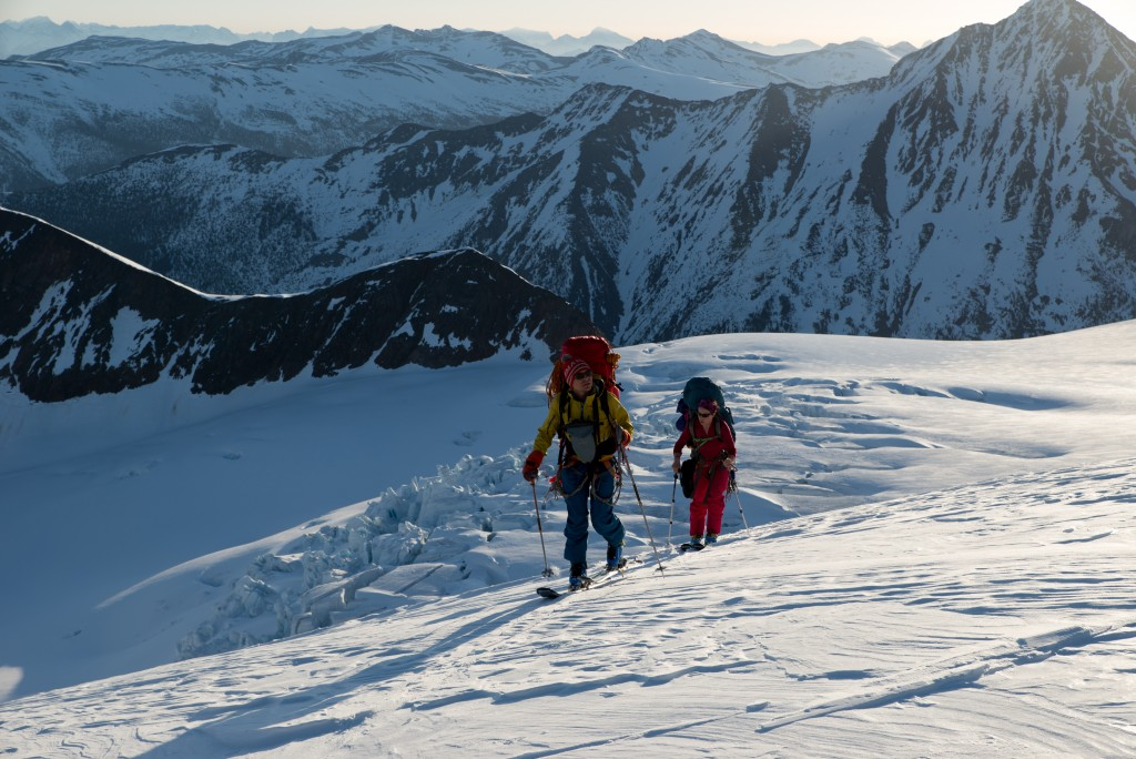 Cruising along the Conrad Glacier, beautiful morning and nothing to fall off for us to enjoy.