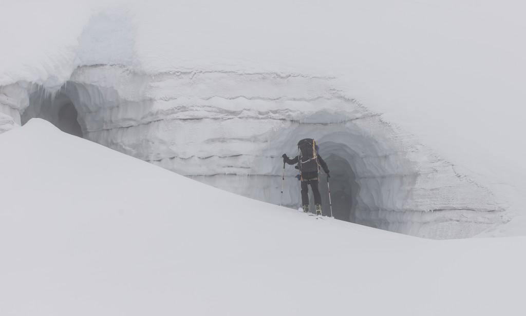 Mike investigating a portal back to civilization?