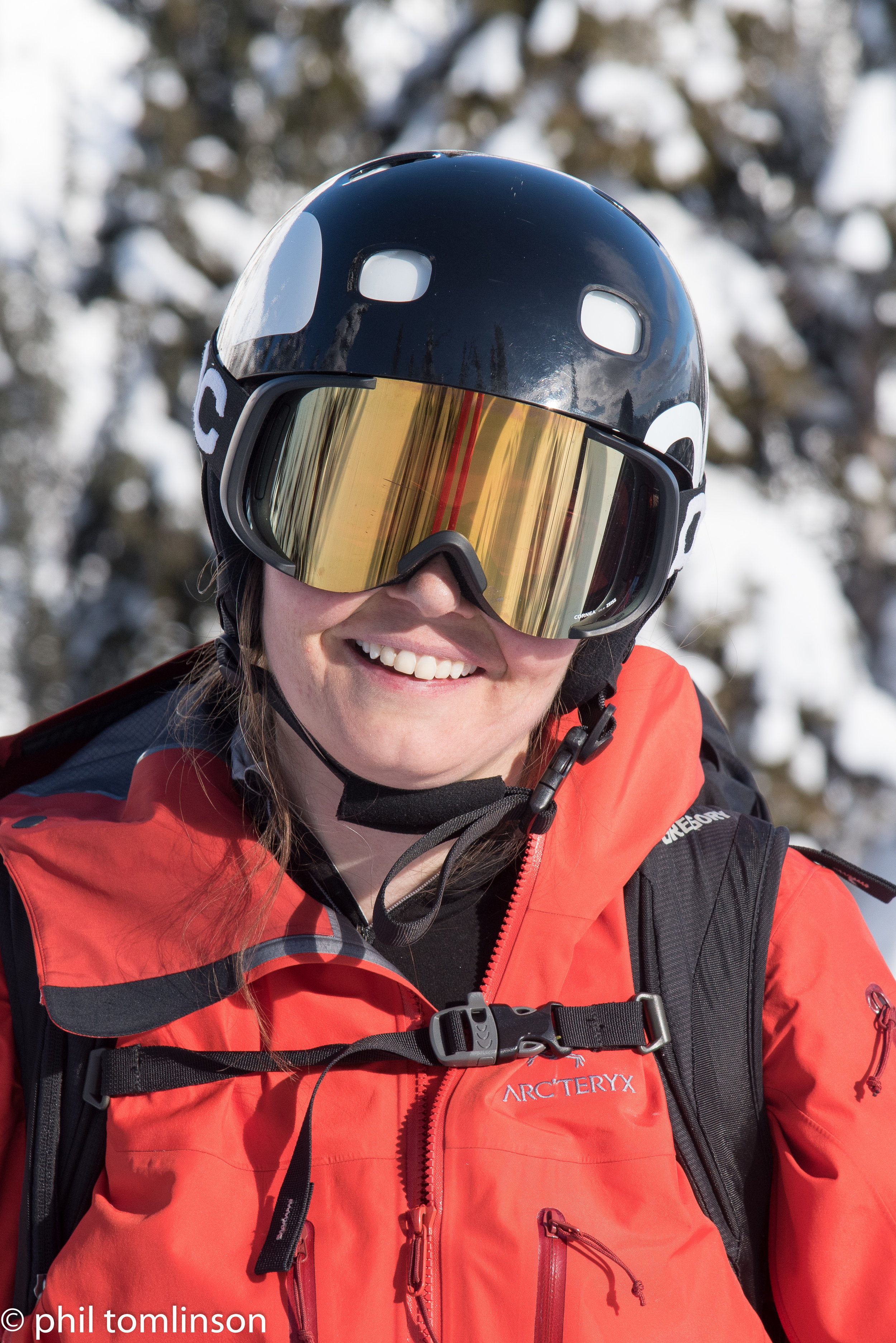 """Sheena – an ex-racer who is a 5'2"""" monster on skis - most rock solid technique I've ever seen."""