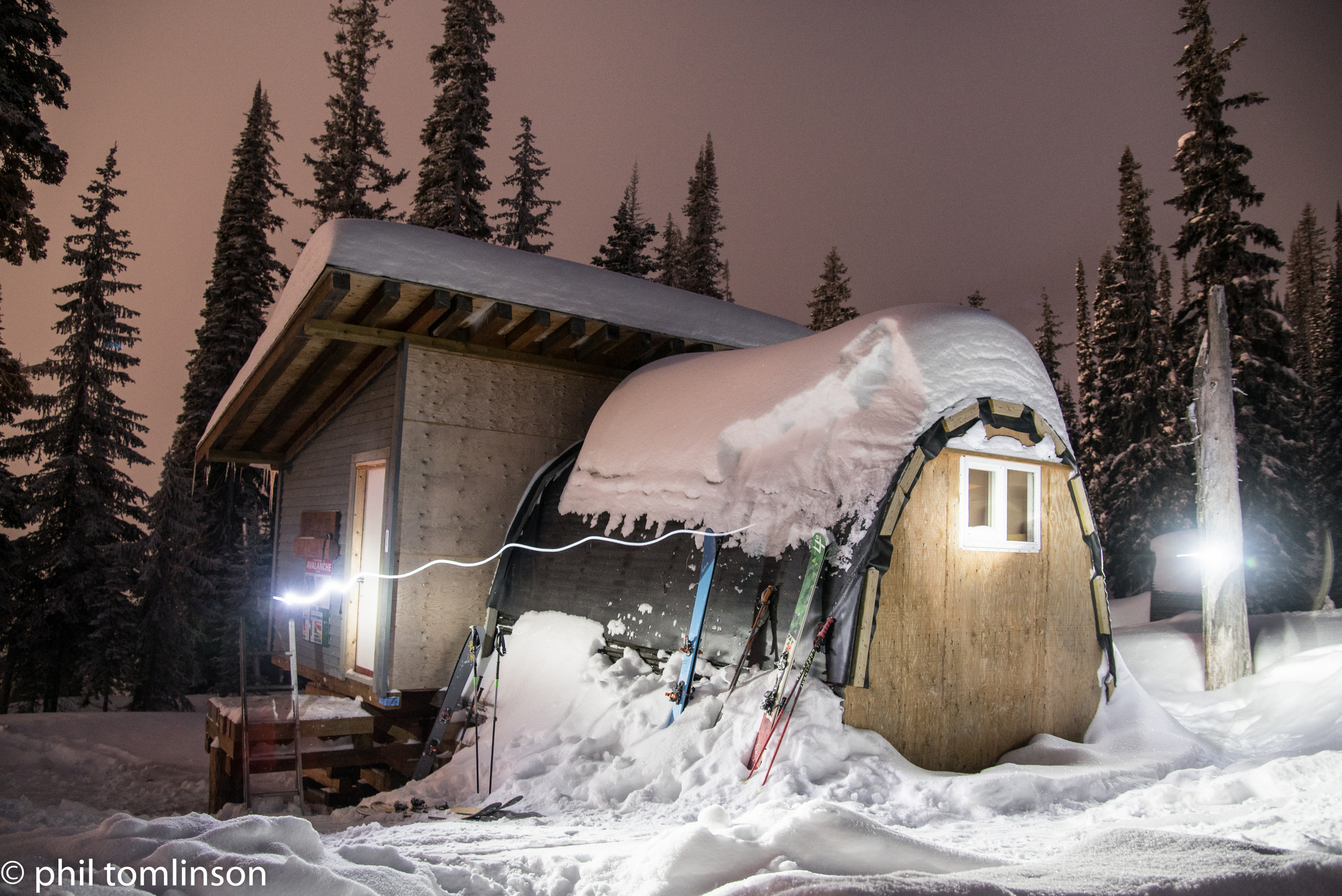 The Tunnel Creek Hut may be basic, but it's home to some of the best tree skiing on the planet.