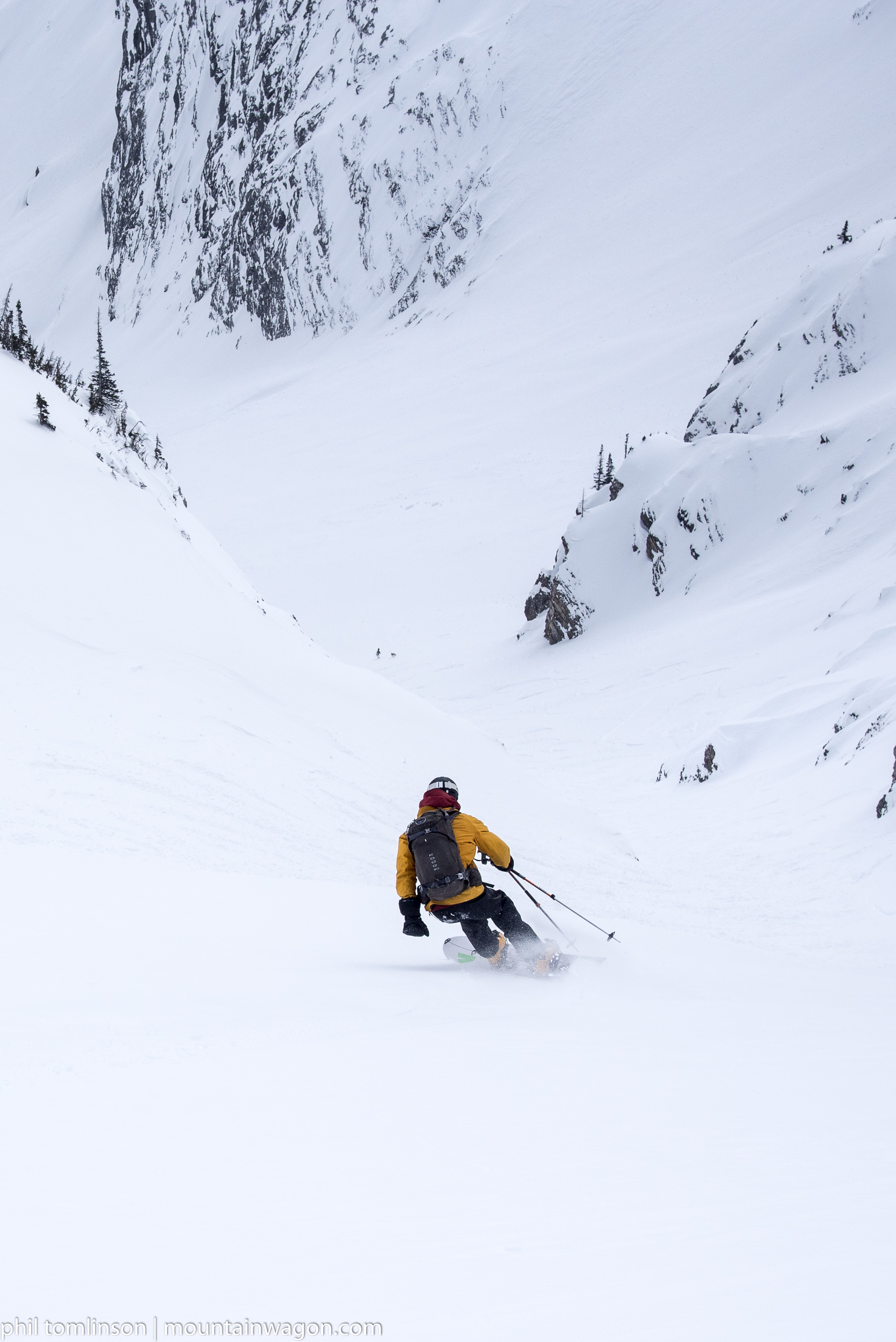 Brad cruising down to the choke point in Miner's Gully