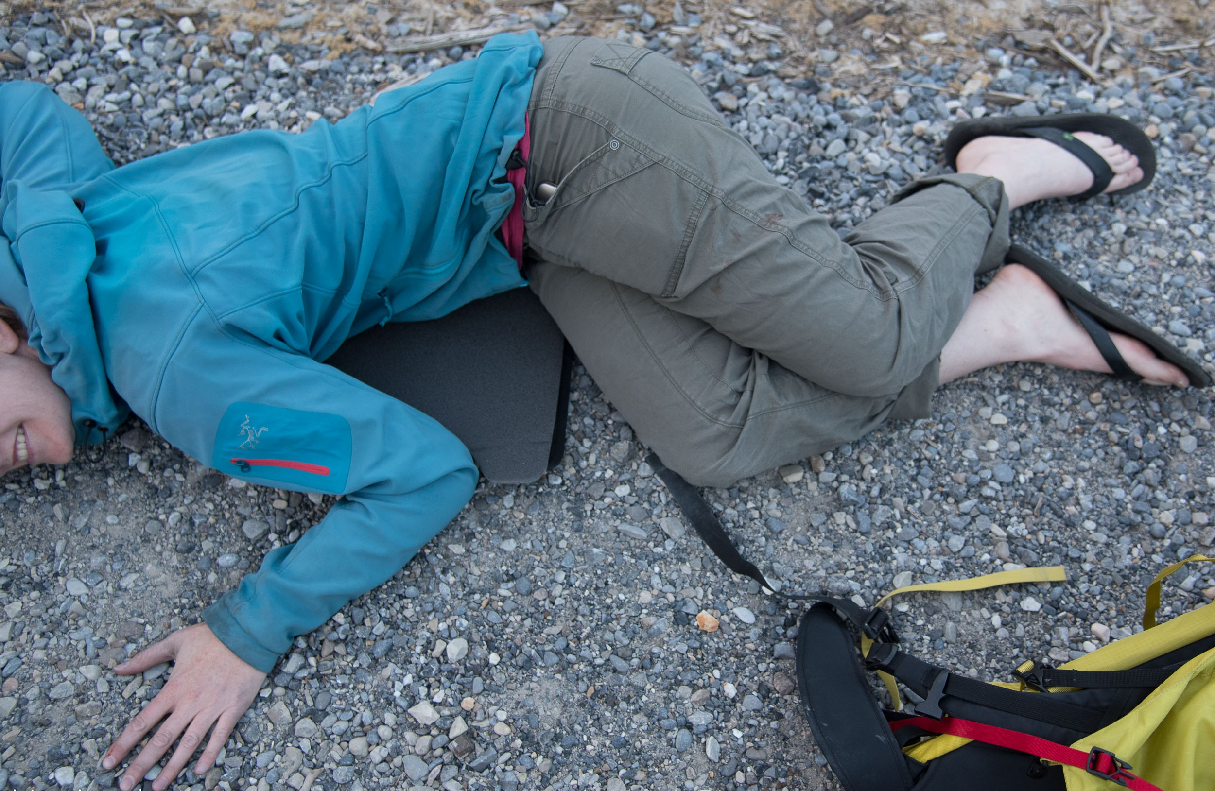 not big enough to sleep on - but it isn't going to do much in a bivy