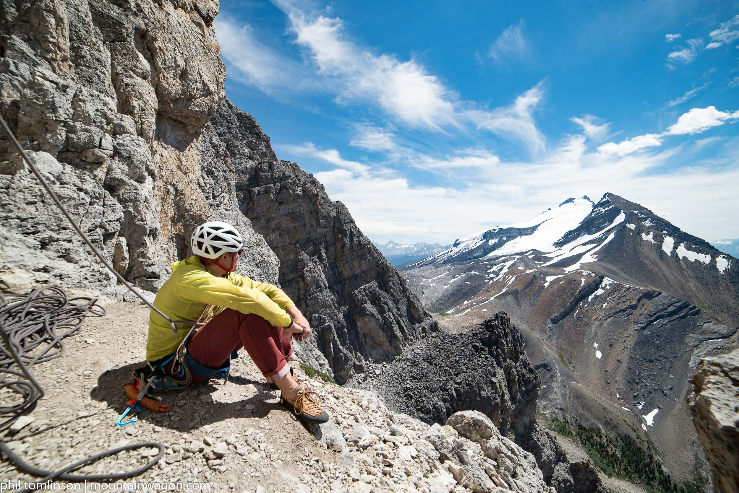 If you're going to kill time on route - a big old belay ledge and incredible views is a pretty nice way to do it...
