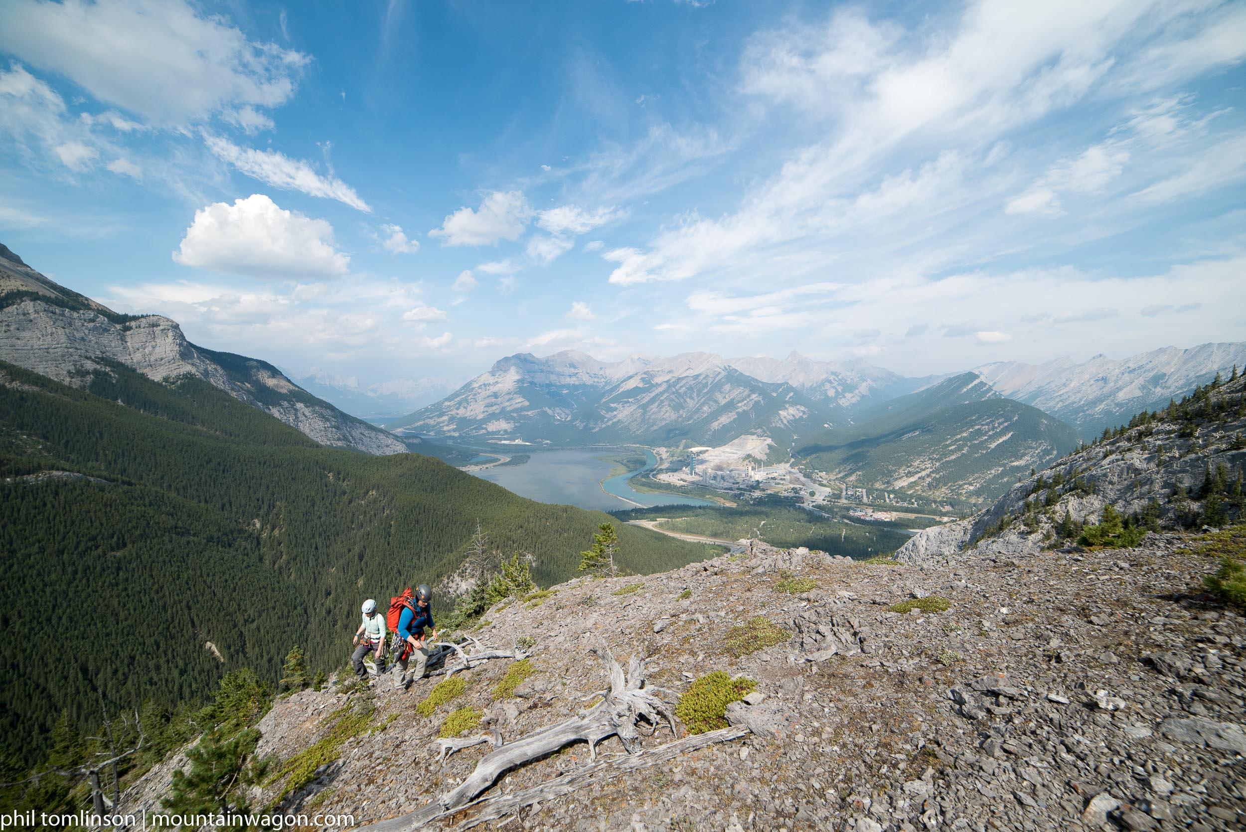 The 400m scramble pitch finishes in a bit of an alpine meadow - with incredible views