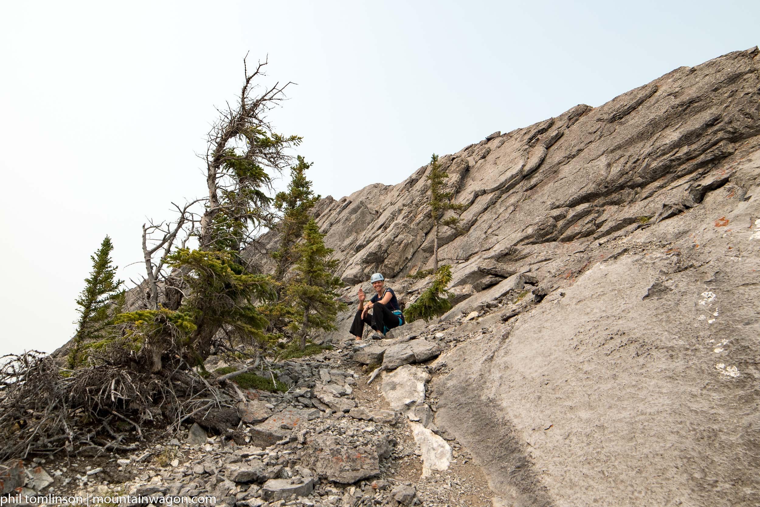 Julie, at the top of Escargot Corner