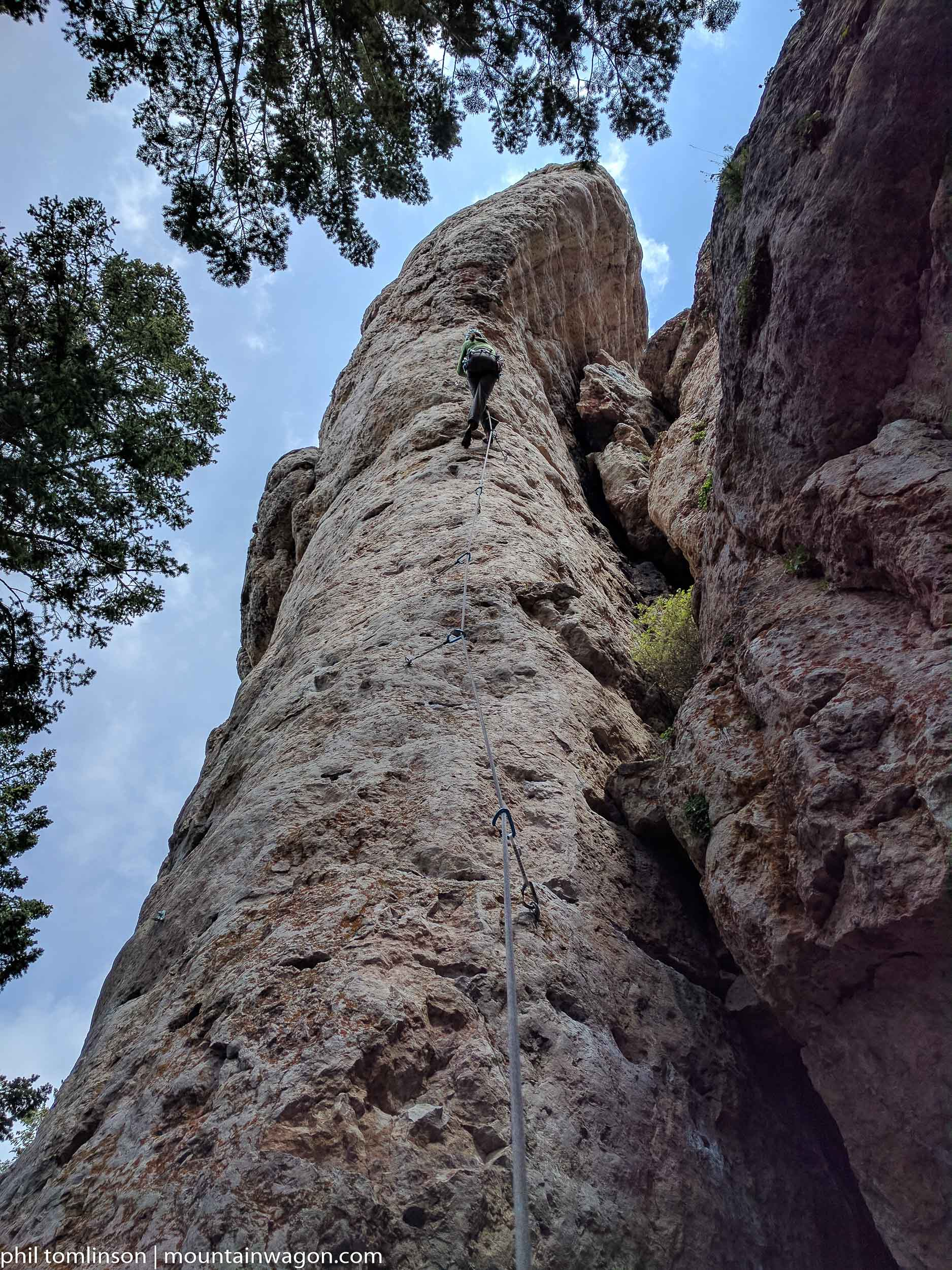Climbing the Cobra at Ten Sleep, Wyoming