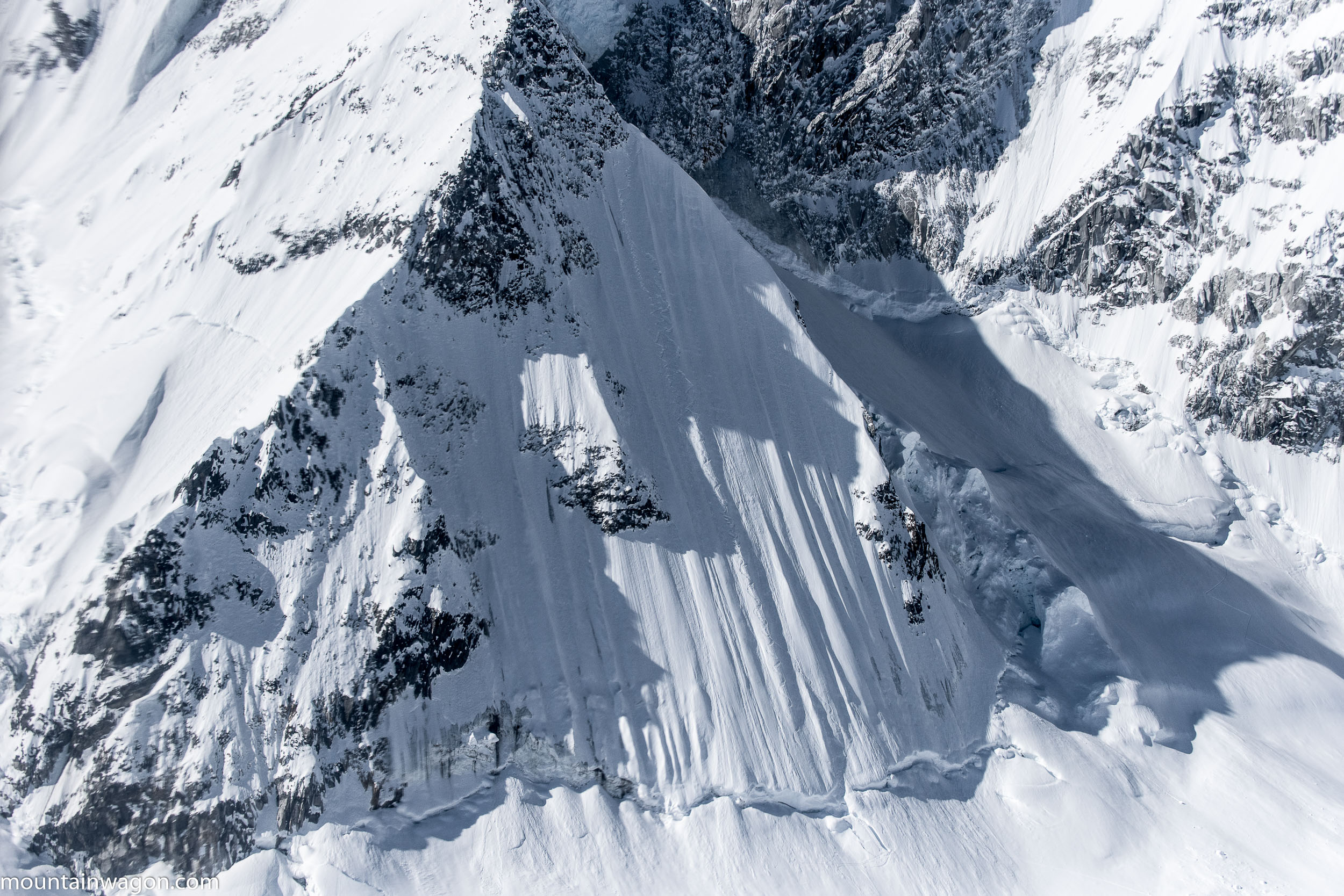 Looking back on the line and it's no less incredible from the air - photo: Zach Clanton