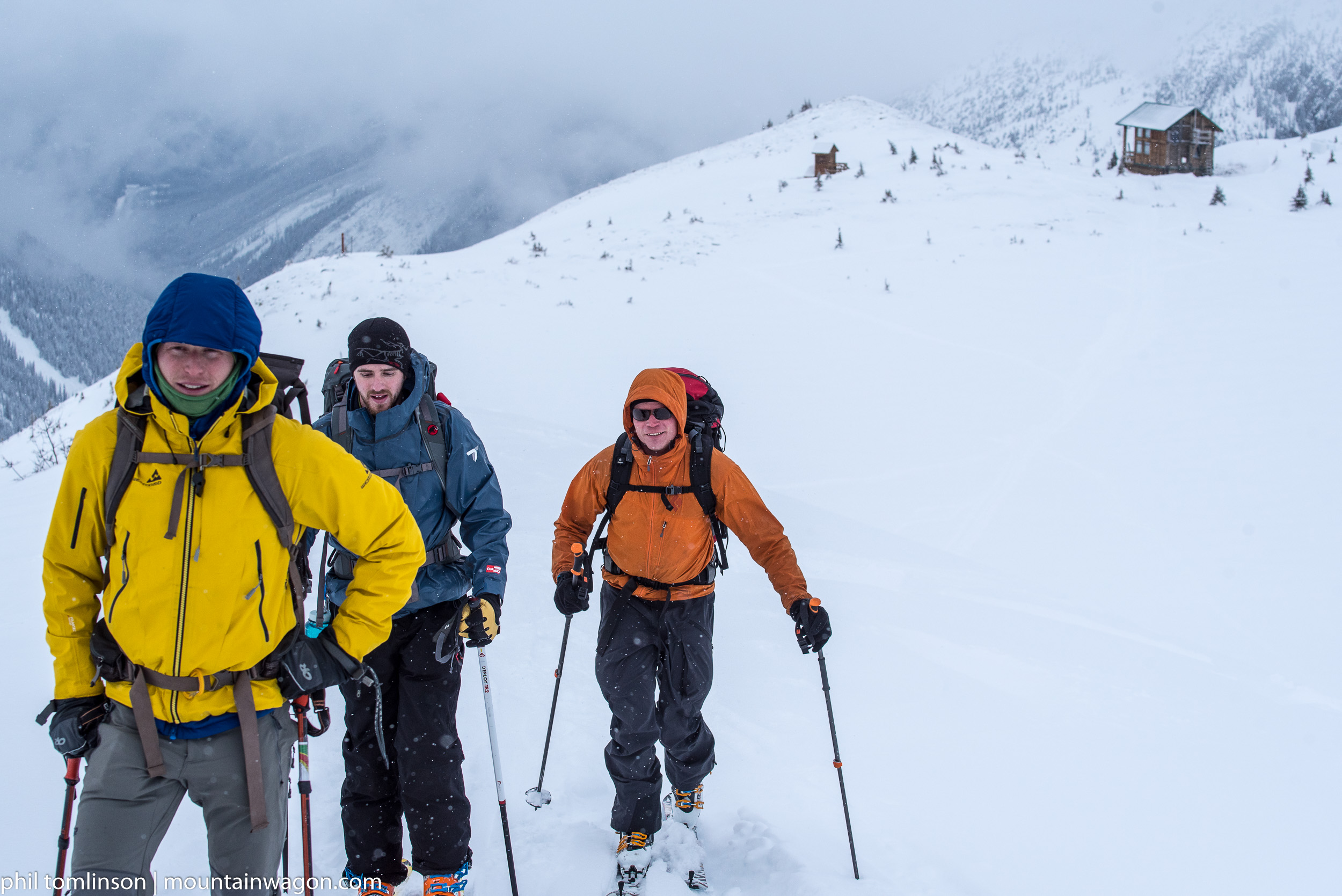 Darren, Tyler and Paul touring up from the Asulkan Hut