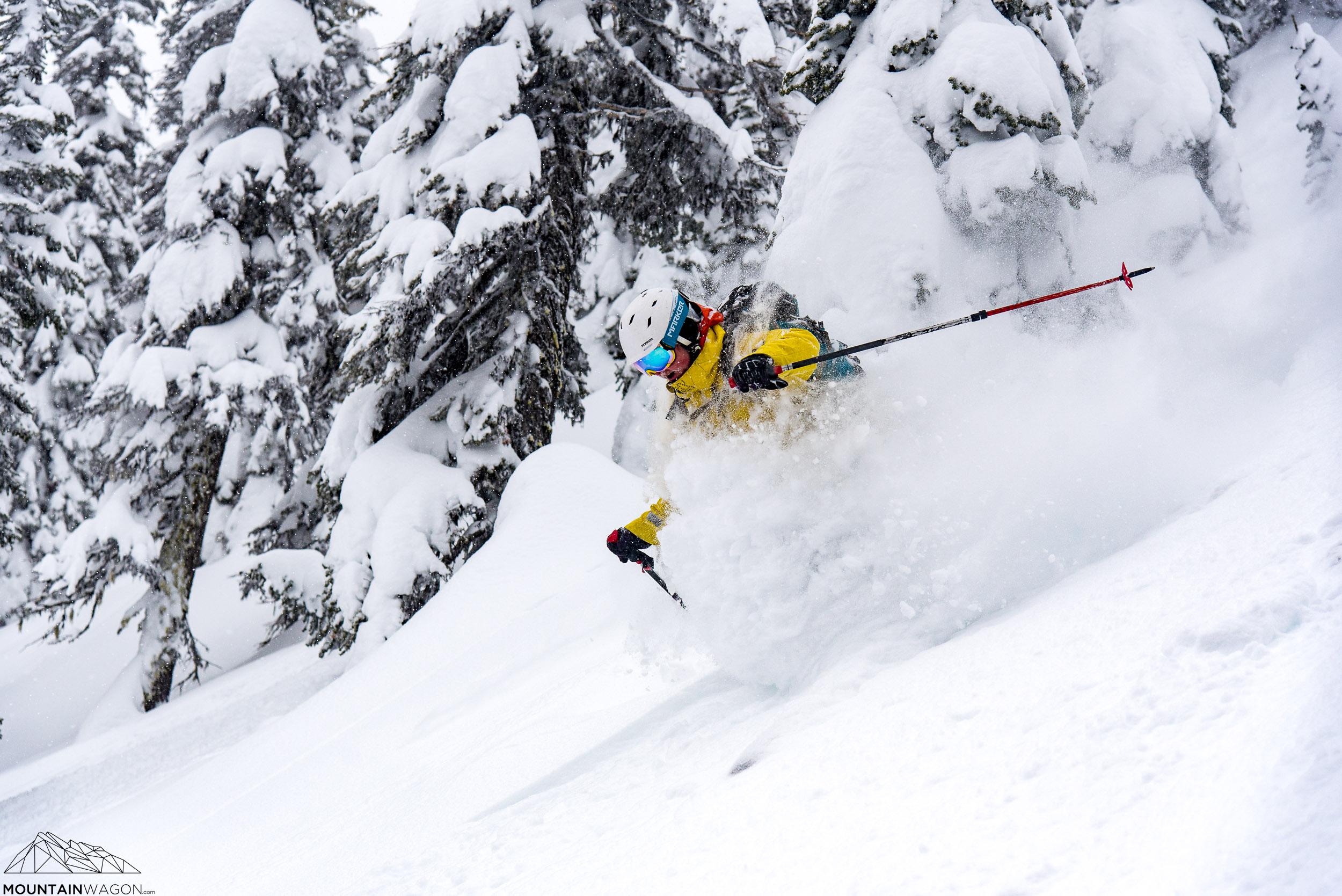 kootenay pass skiing powder lightning strike cabin