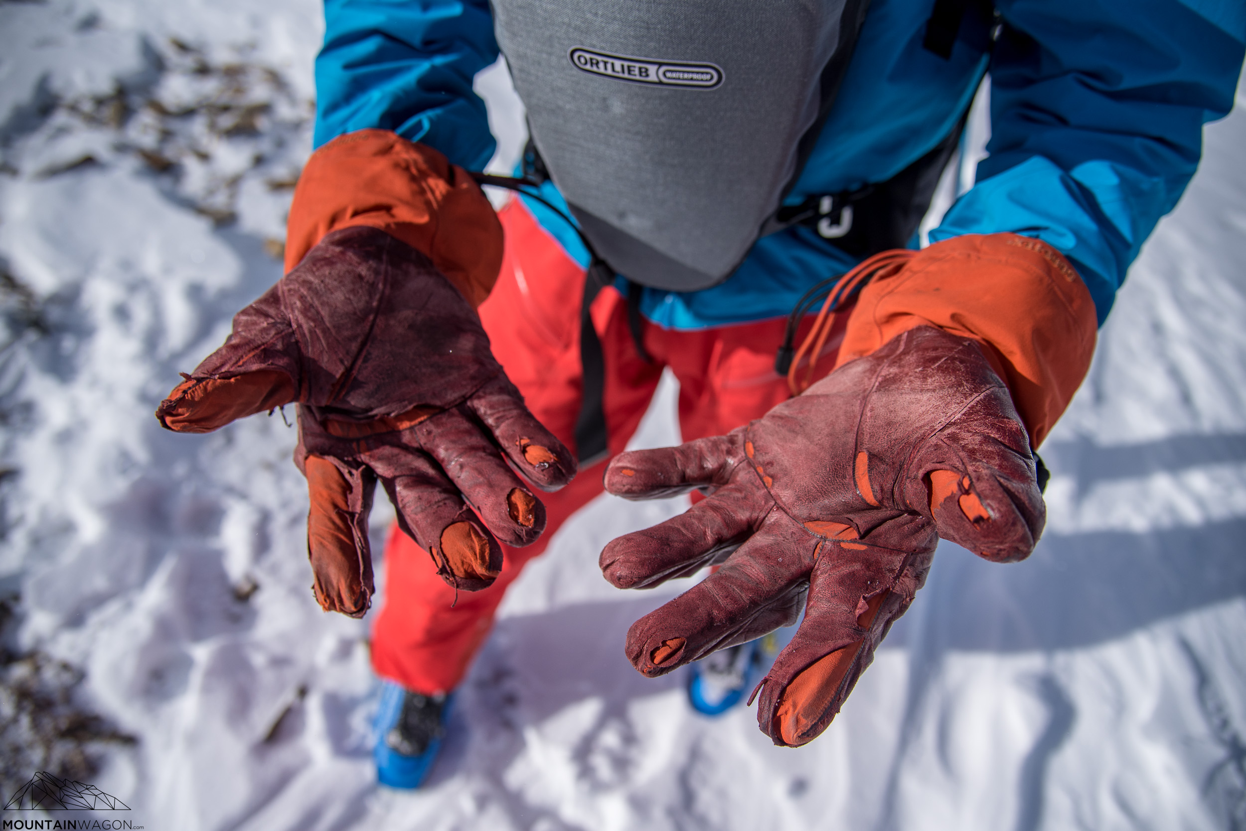This is not okay. Arc'teryx Alpha SV gloves after just a couple of seasons use.