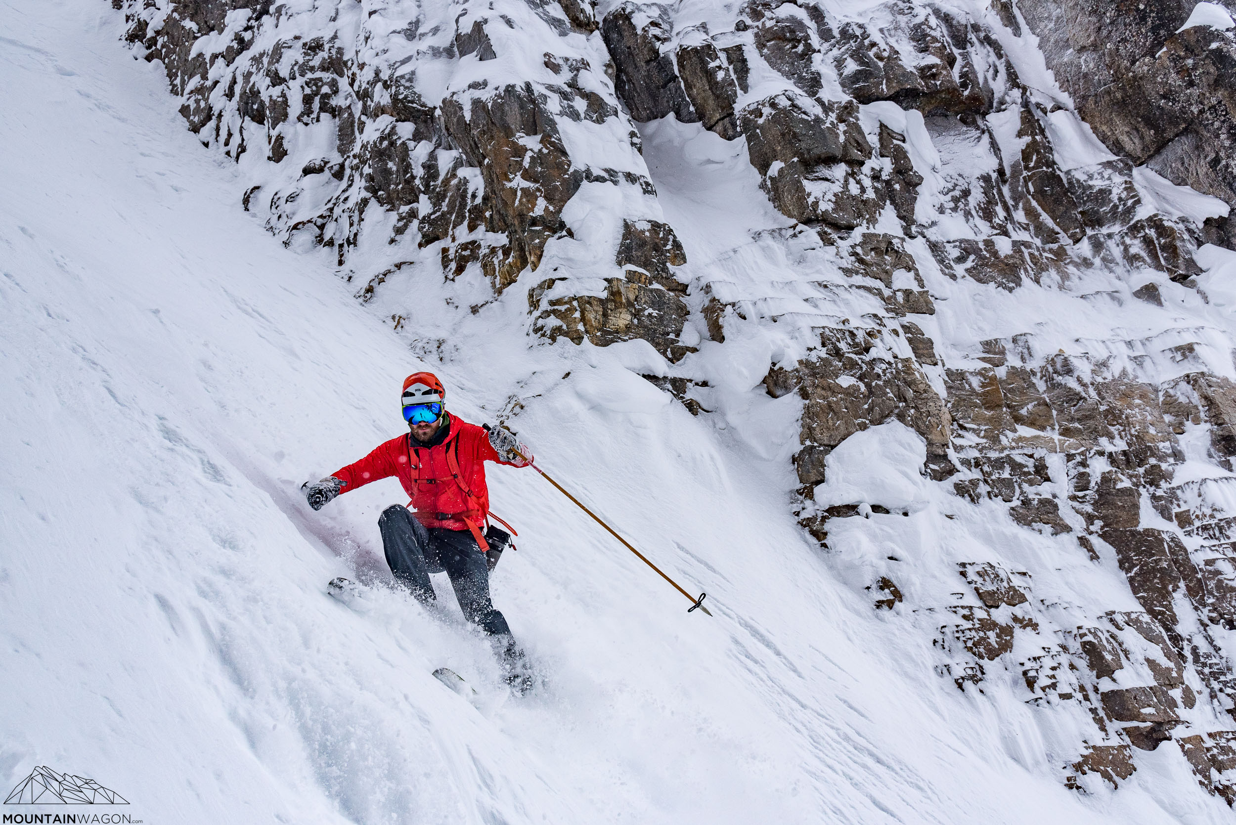 Skyler explores the concept of edge control in the Grand Daddy Couloir