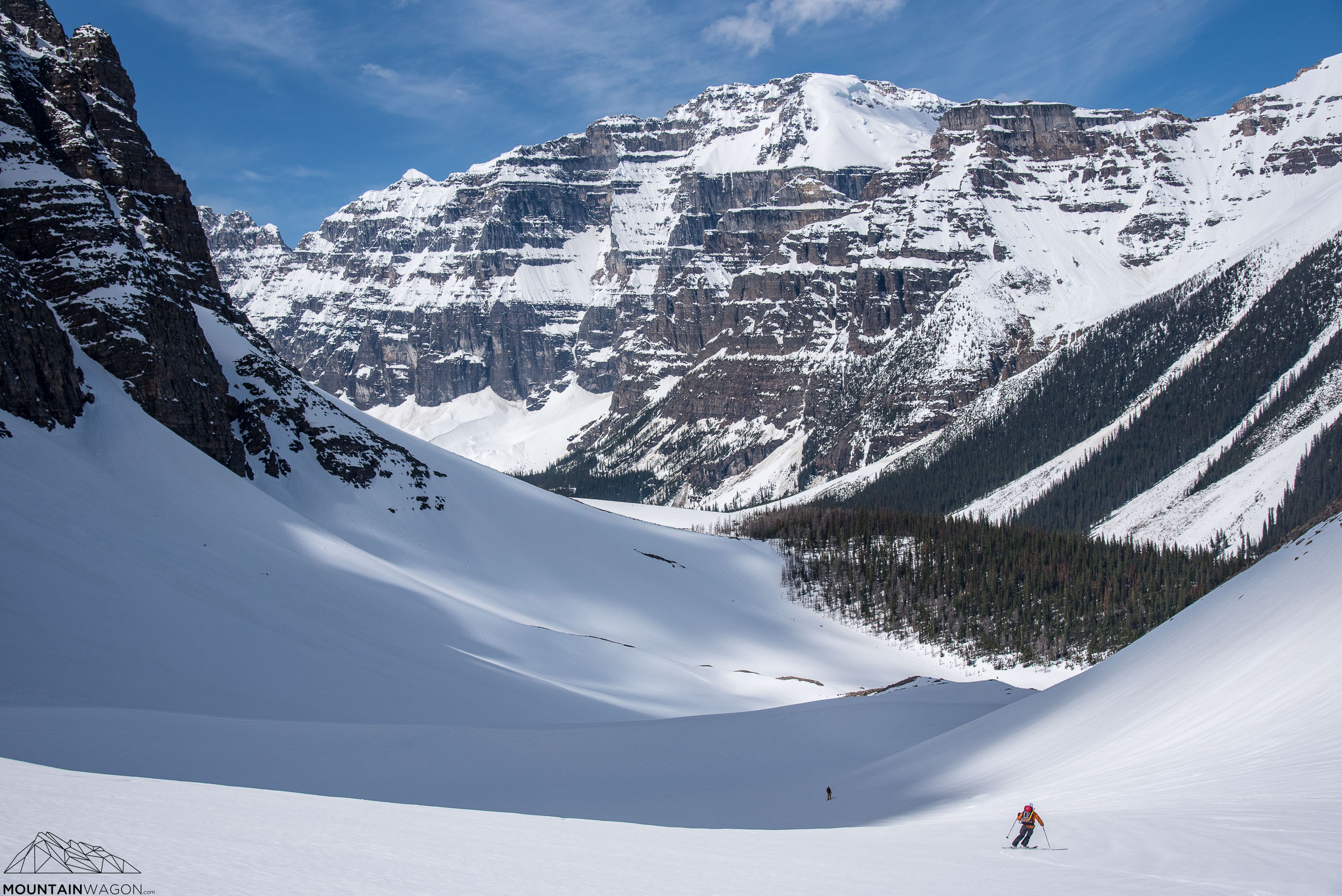 Beautiful spring skiing conditions