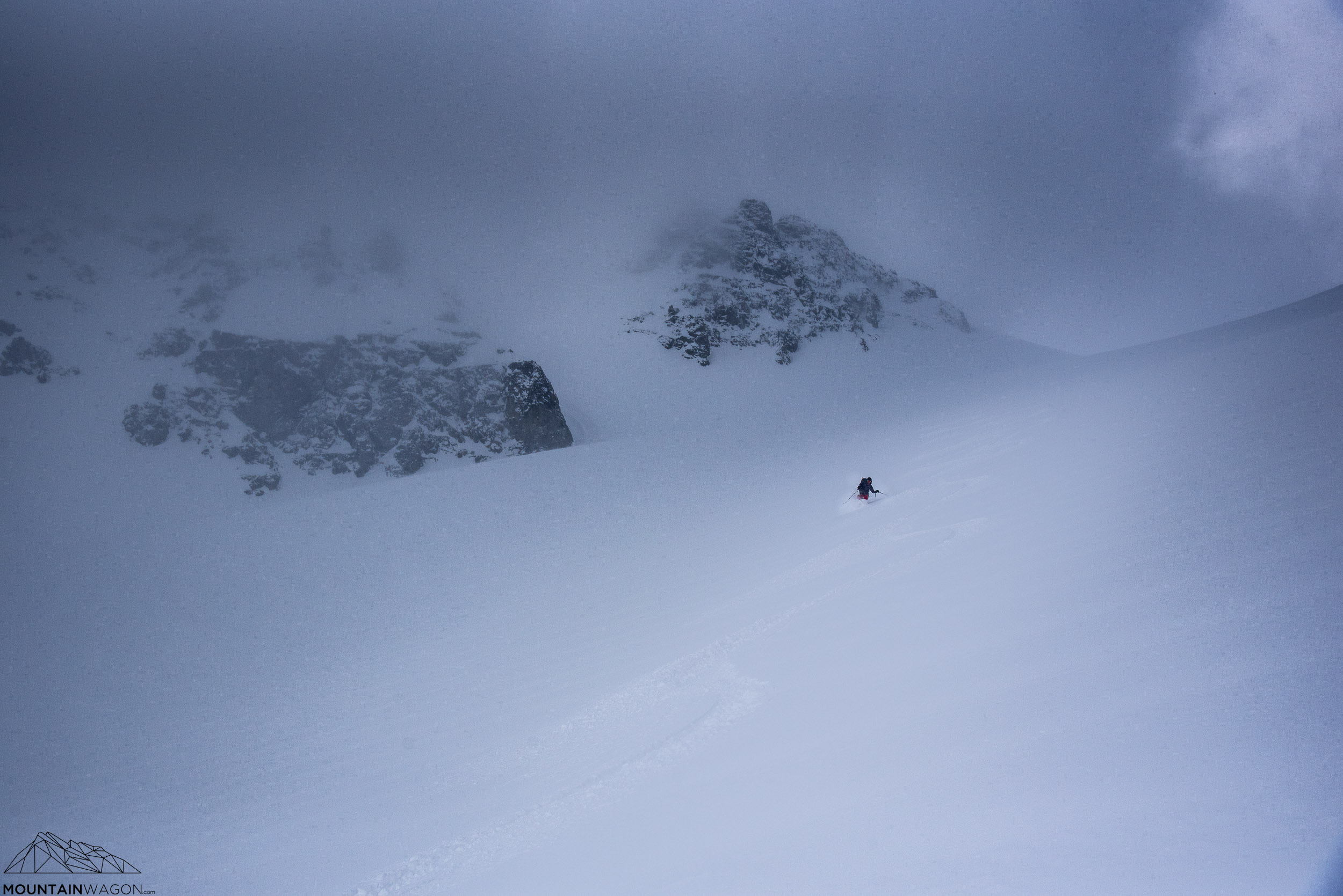 Well, the upshot of a big overnight storm is a fresh dump leading to unexpectedly awesome skiing.