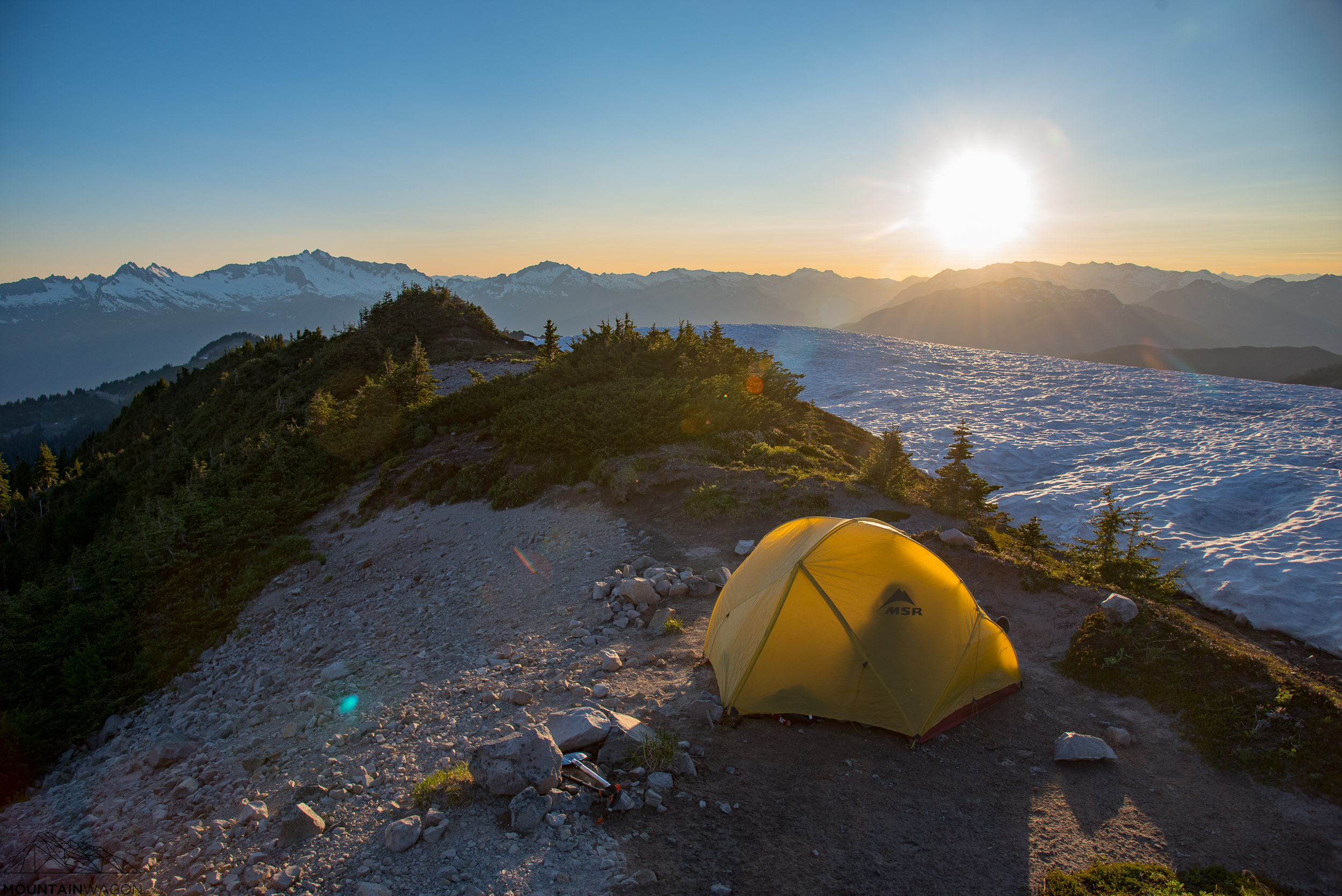 Perfect camp site on Brohm Ridge