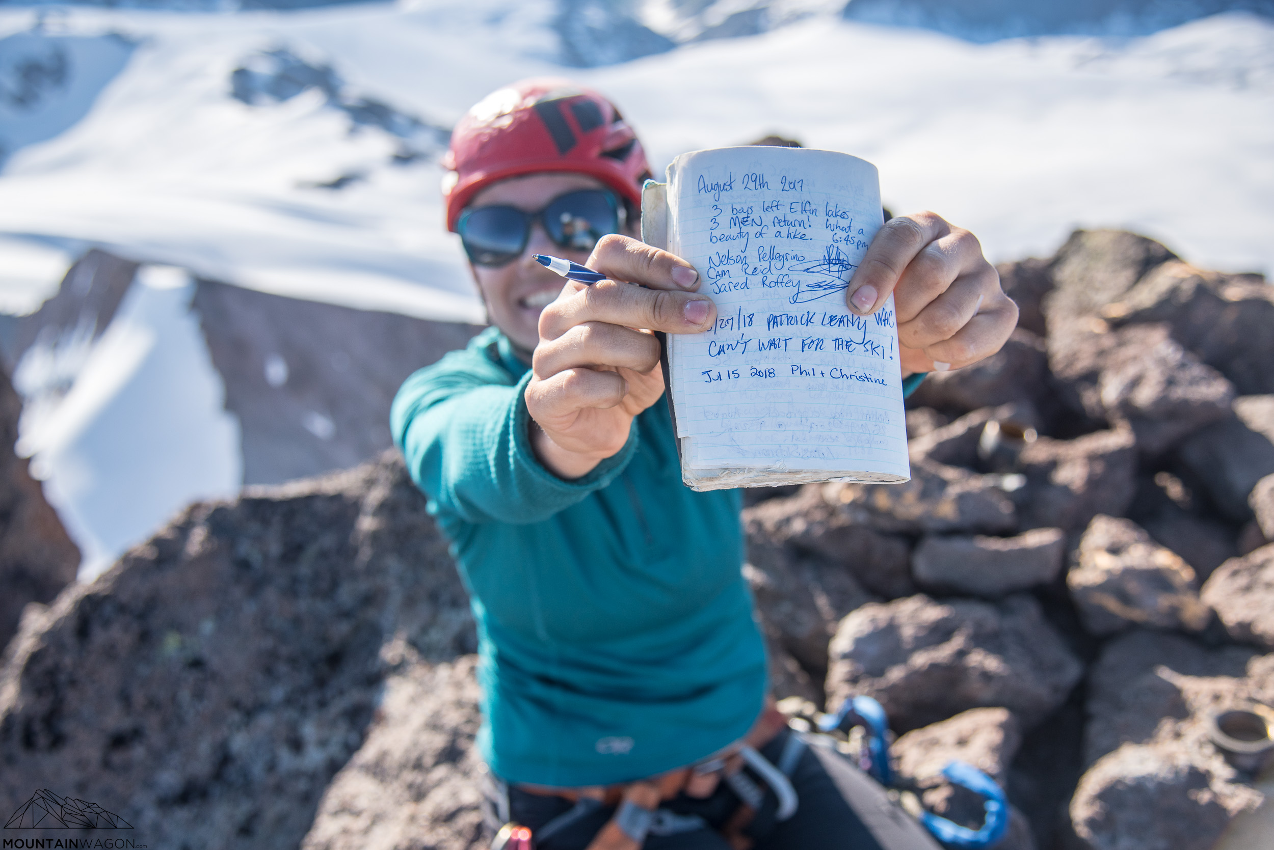 If you don't sign the summit register, it doesn't count!
