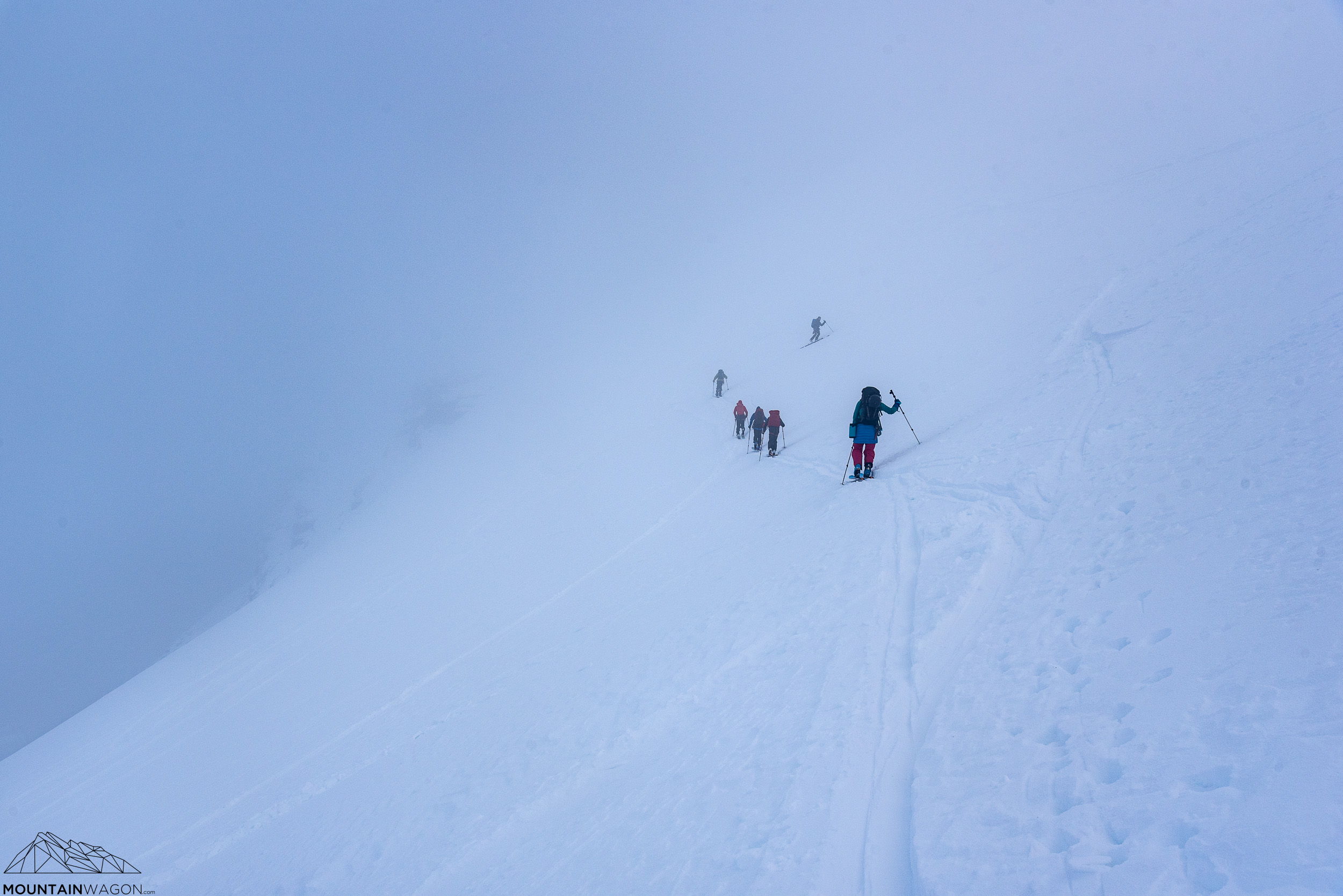 As we approached the summit - the weather got back to normal and socked in