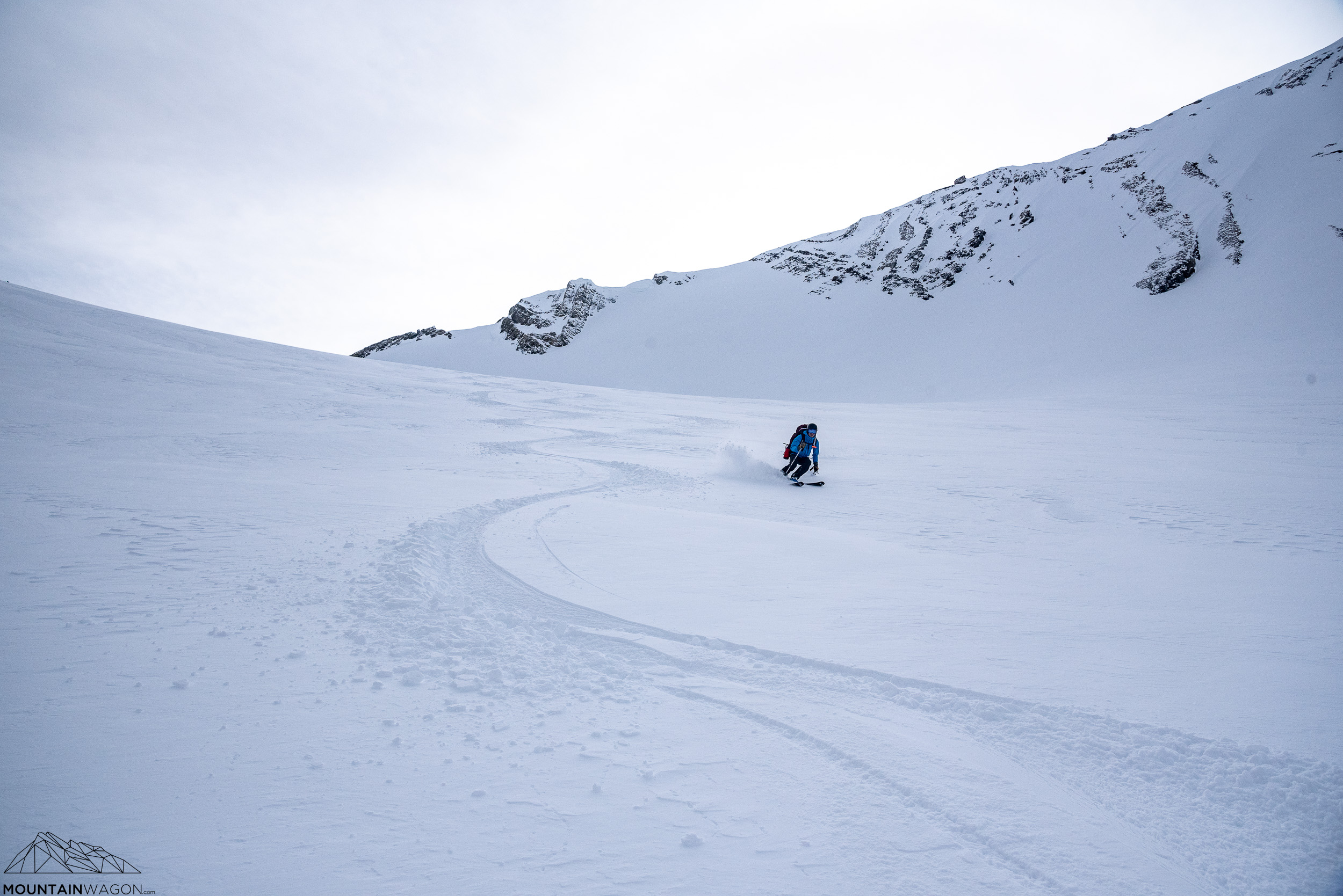 David enjoying (generally) pleasant turns down the Robertson Glacier