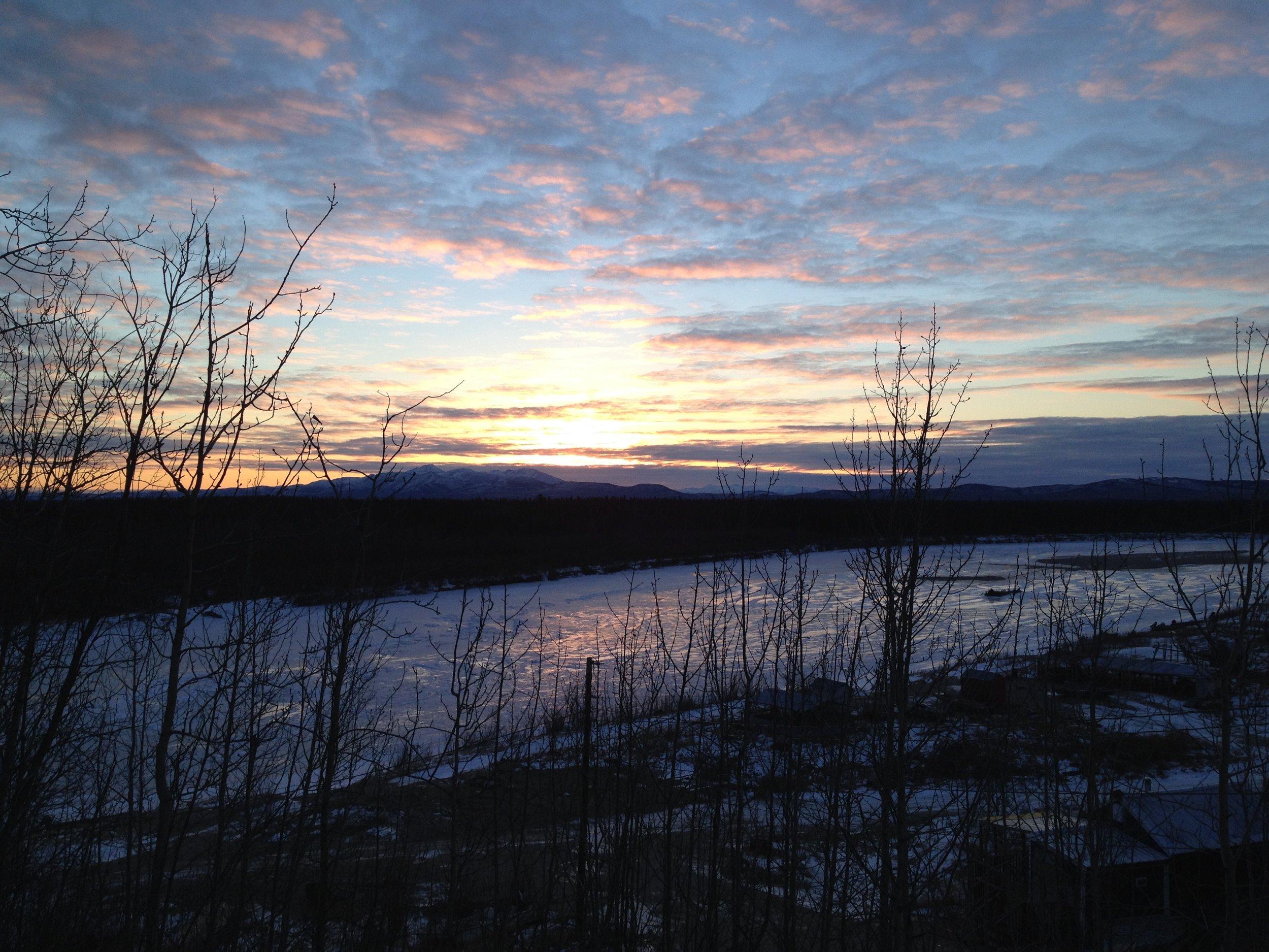 Shungank, AK (66° 53′ N) on November morning