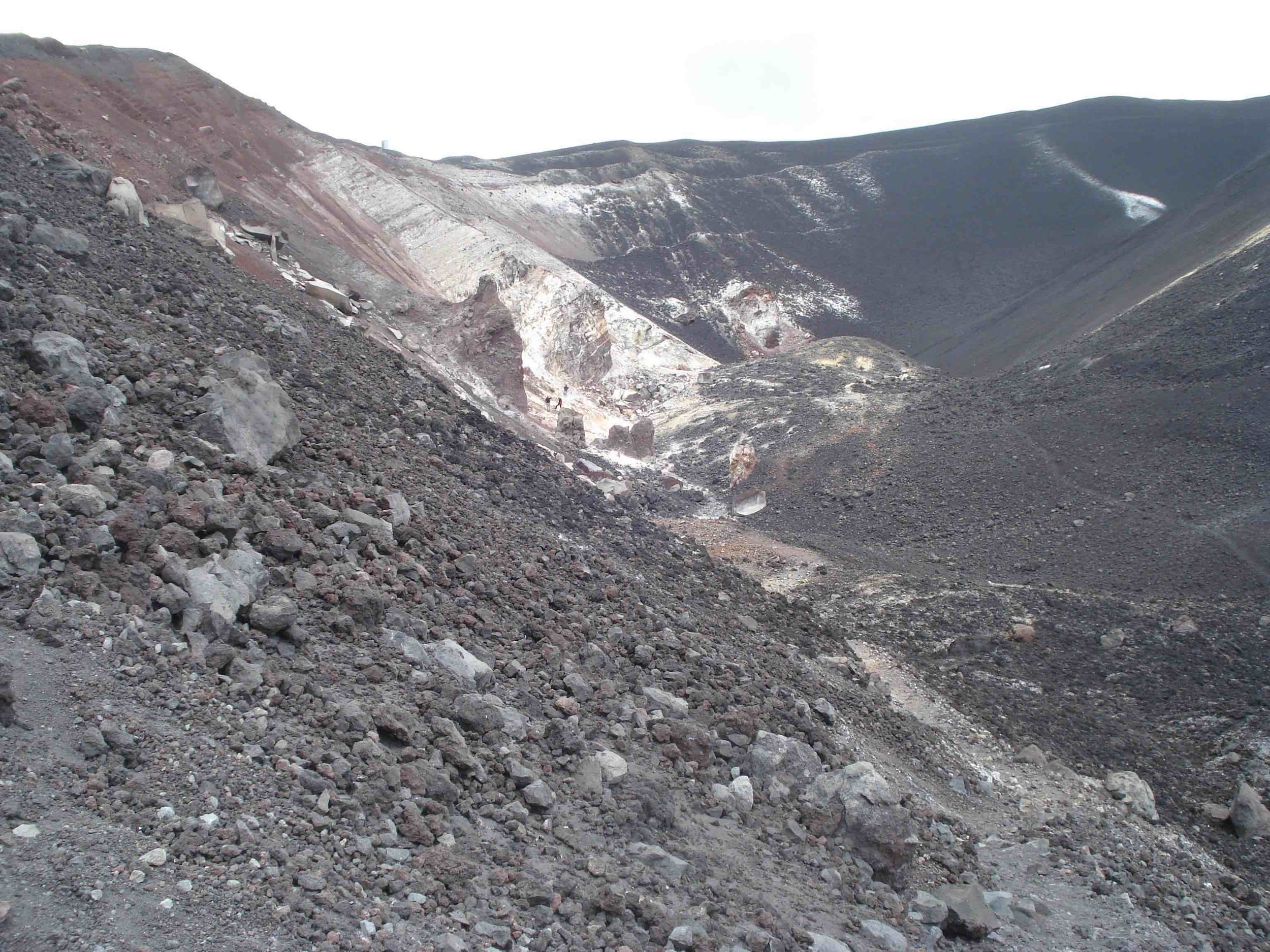 Cerro Negro is a young (~150 years old) cinder cone in western Nicaragua outside of León. The area is protected (small fee to enter) and is popular for cinder-boarding.