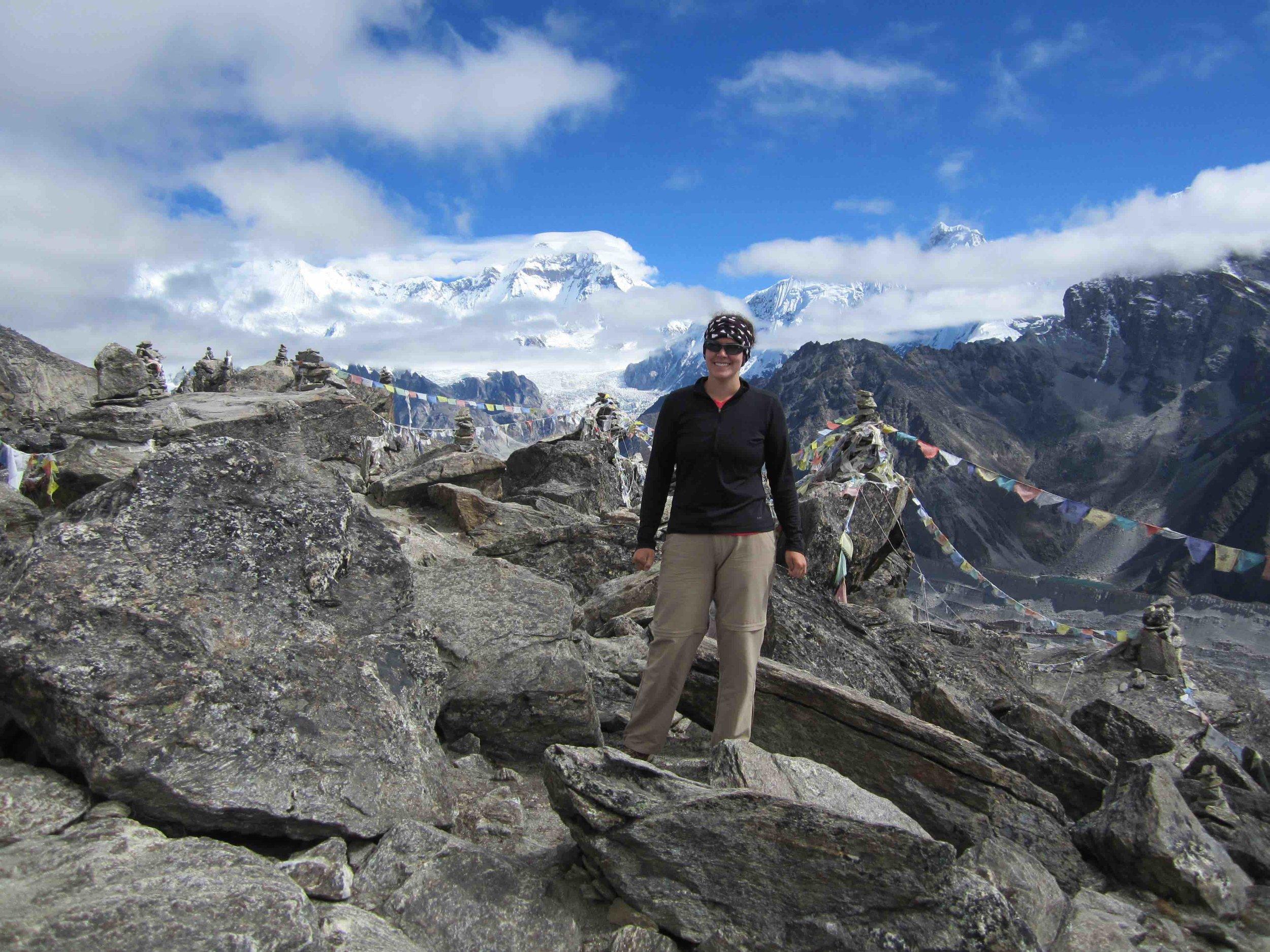 Summiting Gokyo Ri 4750 m (17,575 ft).