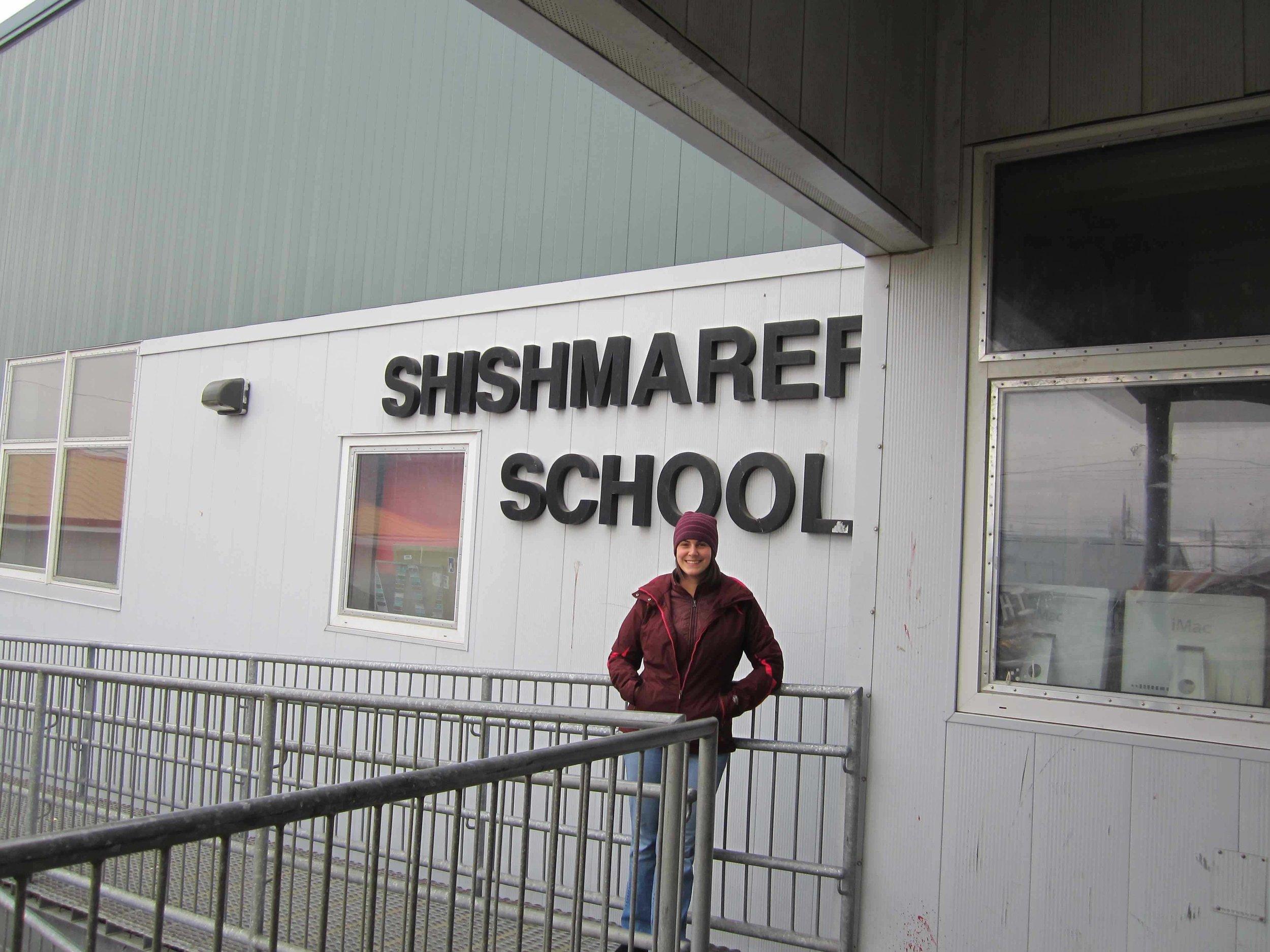 Shishmaref, AK on a disappearing coastal island ( 66° 15′ N)