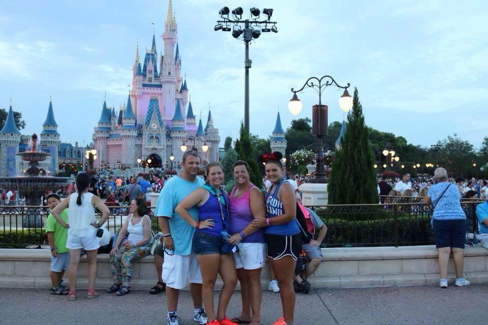 Kristin and her family on a trip to Disney World this past year.