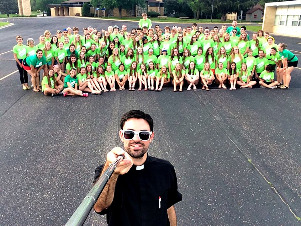 Fr. Dave with a group of Love Begins Here missionaries in the summer of 2015