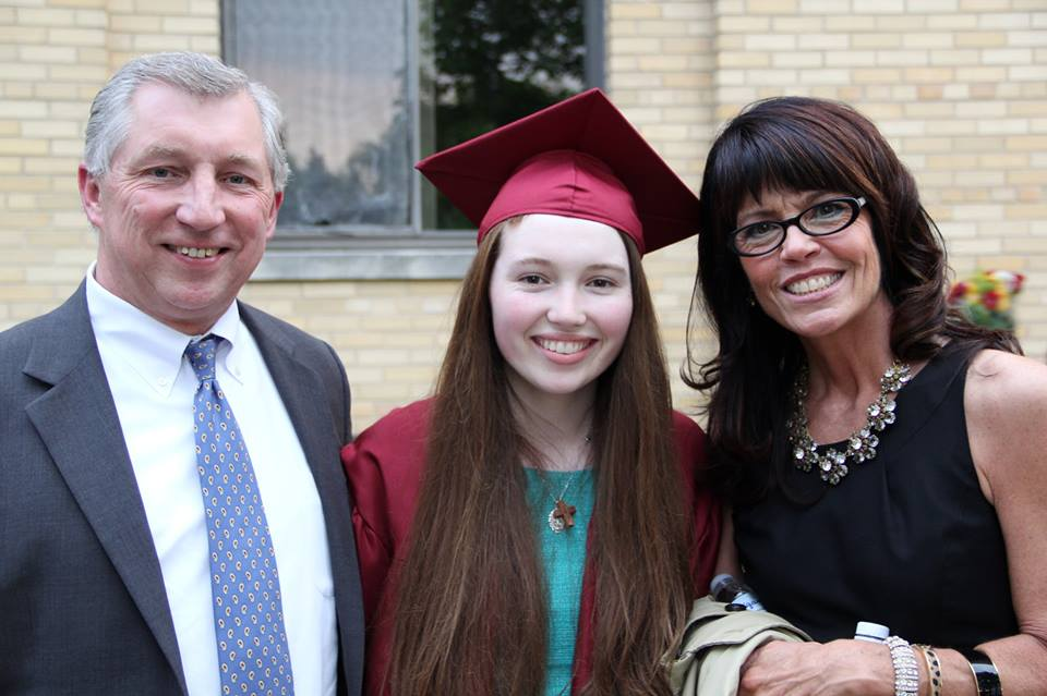 #tbt to when Mary Kate graduated from high school! She is now preparing to graduate college this weekend.