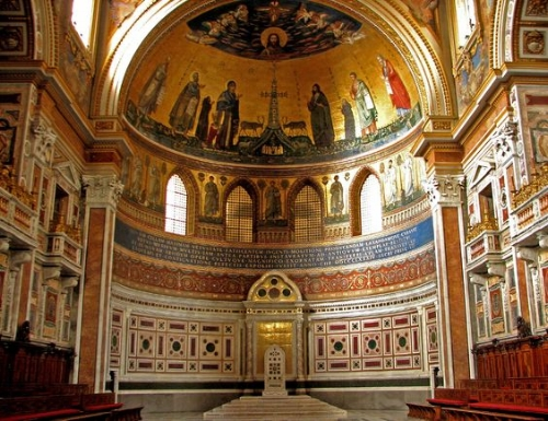 The St. John Lateran Cathedral - where the pope officiates!