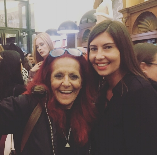 Lauren with patricia fields, fashion icon and costume designer for sex and the city.