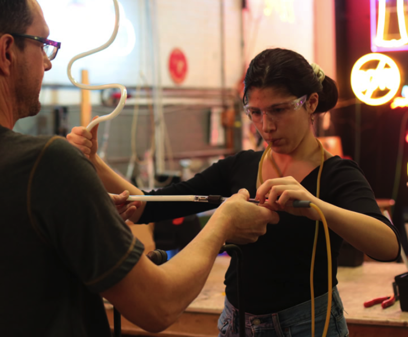 Brooklyn Glass Class - Become a Brooklyn artisan! Learn how to make your own shot glasses, garden ornaments and more!SEE ALL THE COURSES HERE.