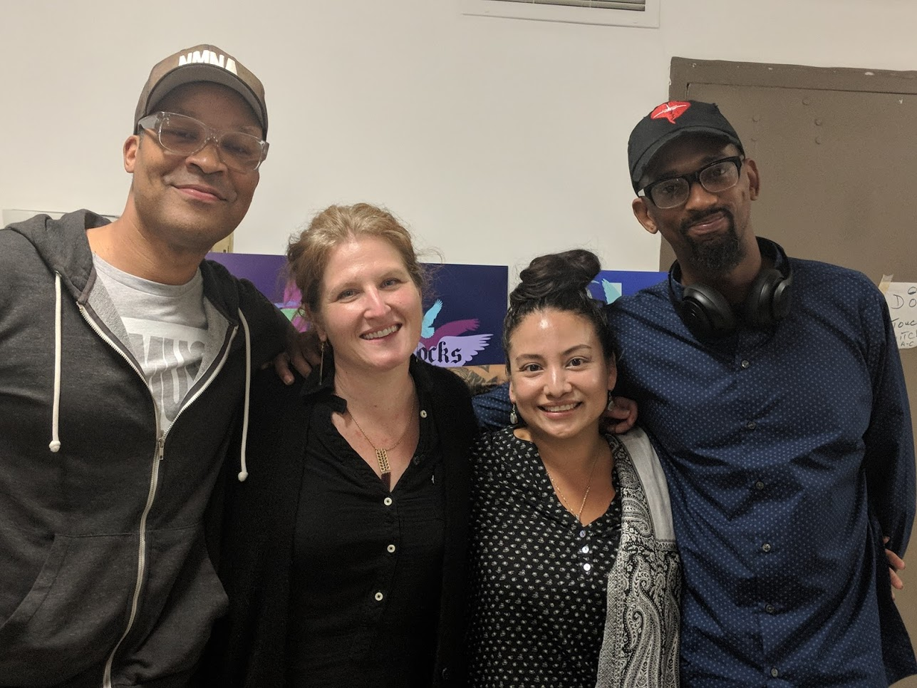 Meet The Muralists (from left): Rah Crawford,Ellie Balk,Gera Lanzo and Flako Jimenez