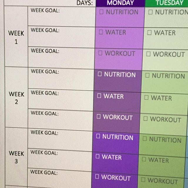 Staying consistent is hard when you aren't tracking your progress. Know where you've been and how much you've accomplished by logging it. Make your own log or download a free 4-Wk planner to help you track. Link in bio. #ConsistencyWins