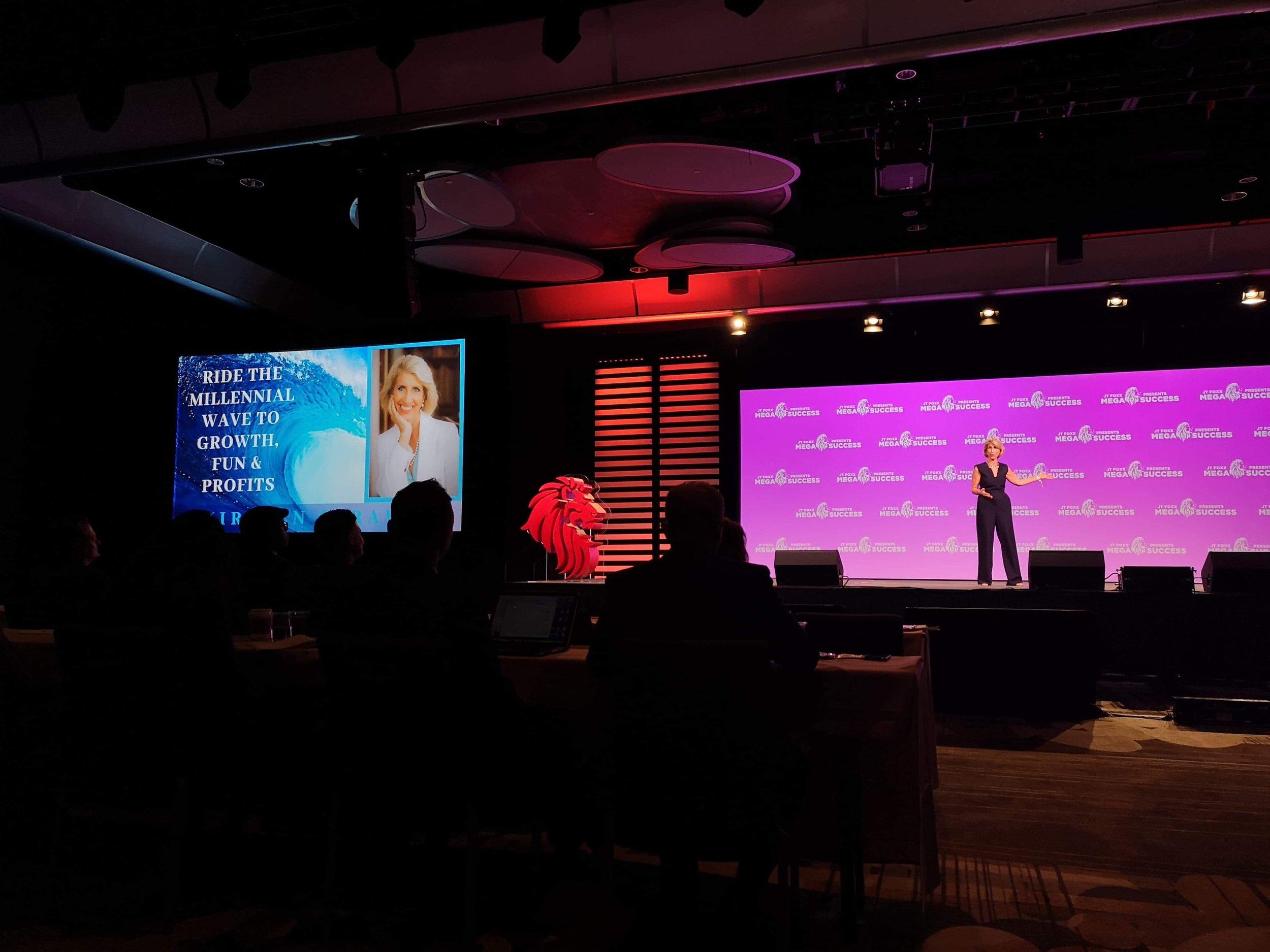 Kirsten Speaking MegaSuccessRideMillennialWave.JPG