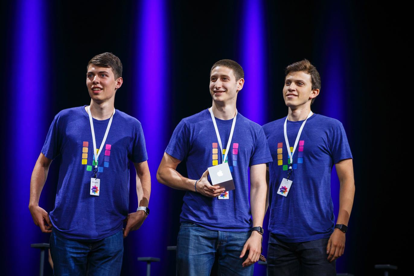 Left to right: Workflow creators Nick Frey, Ari Weinstein, and Conrad Kramer