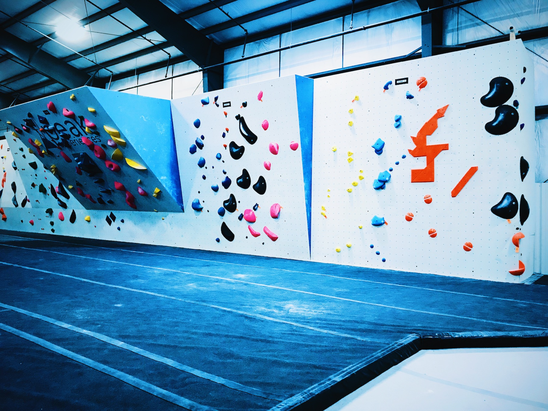 60ft. competition style boulder wall