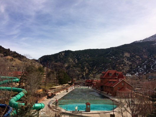 Glenwood Hot Springs Lodge: the largest hot springs pool. We didn't have enough time to soak here unfortunately.