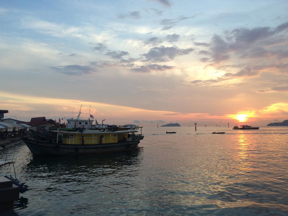 Sunset over the South China Sea.