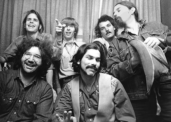 "The Grateful Dead (clockwise): Bob Weir, Phil Lesh, Bill Kreutzmann, Ron ""Pigpen"" McKernan, Mickey Hart and Jerry Garcia, circa 1970, United Kingdom (Photo Credit:  Slate )"